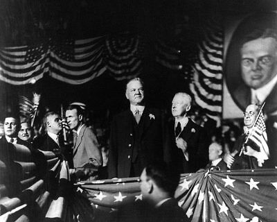 Herbert Hoover Presidential Convention 11x14 Silver Halide Photo Print