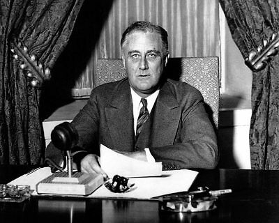 President Franklin D. Roosevelt 'Fireside Chat' 11x14 Silver Halide Photo Print