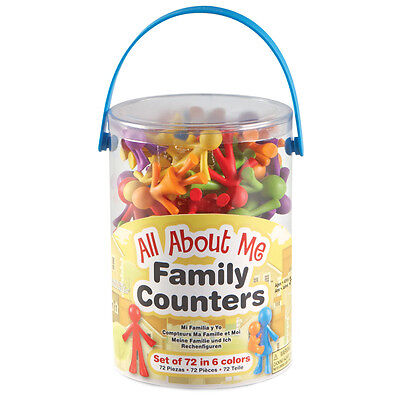Learning Resources All About Me Family Counters (Set of 72) NEW