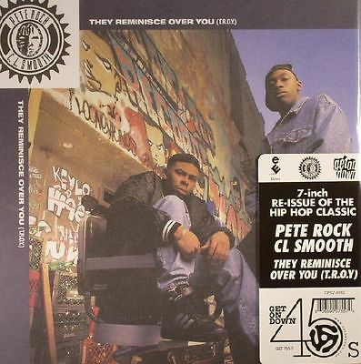 """Pete Rock """" They Reminisce Over You """" / """" Straighten It Out """" U.s.7"""" Re-Issue Ne"""