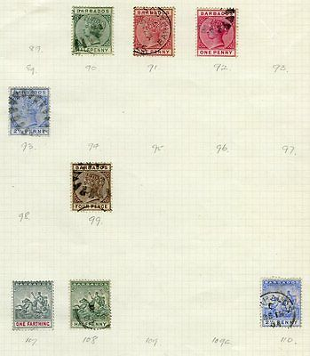 BARBADOS QV KGV M&U COLLECTION on pages  44 Stamps