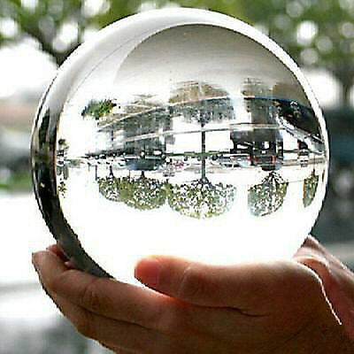 HOT* HUGE ASIAN QUARTZ Clear Crystal Ball Sphere 100mm +stand