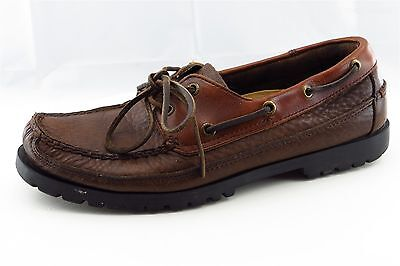 Sperry Top-Sider Men Shoes Size 9.5 Brown Leather Moccasins