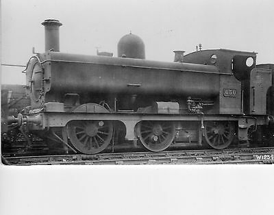 Photo GWR 0-6-0T No 650 at unknown location loco W/Drawn April 1930 Real Photos