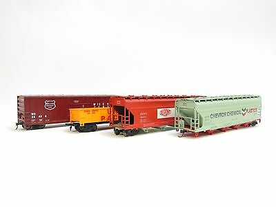 Ho Gauge Selection Of Amirican Wagons X4 Unboxed (A1)