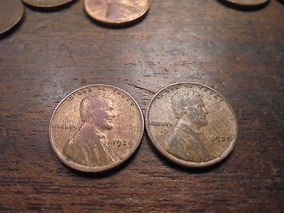 1929 P & 1935 P  Wheat Cent  OBV OR REV OR BOTH   Lamination  ERRORS   # 2935