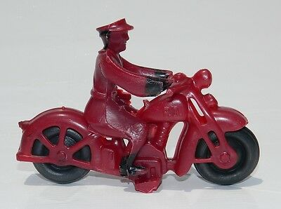 Vintage & Rare Harley Davidson Cop Motorcycle Hubley Auburn Mexican Plastic Red