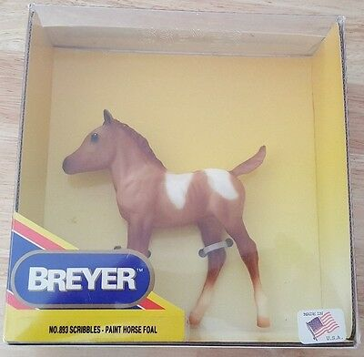 Breyer Horse No. 893 paint horsefoal Mint in Box 1990