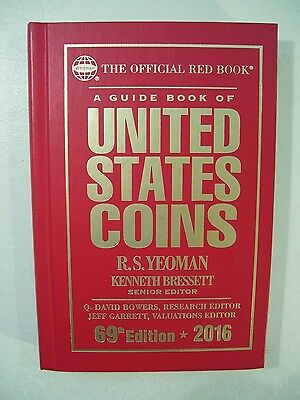 New Official Red Book United States Coins 2016 Guide Book 69Th Edition Yeoman