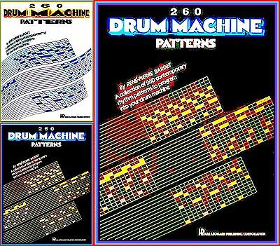 DRUM MACHINE PROGRAMMING DRUMCOMPUTER Book 260 RHYTHMUS PATTERNS VOM FEINSTEN