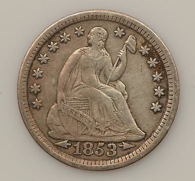 1853-P Seated Liberty Silver Half Dime *G67
