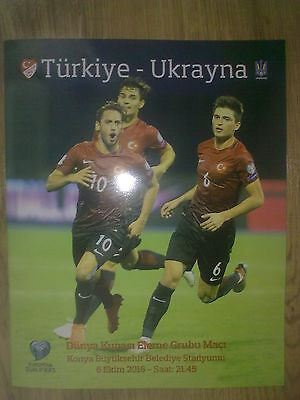 Programme Turkey - Ukraine 2016 OFFICIAL RARE