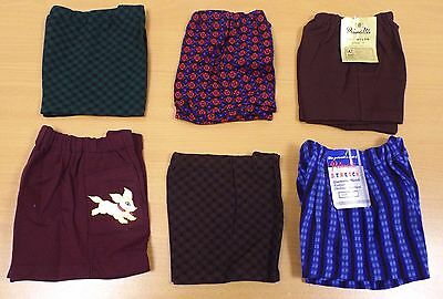 6 x VINTAGE 1970s UNWORN KIDS PULL ON NYLON SHORTS ASSORTED SIZES & COLOURS