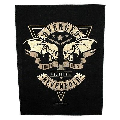 "XLG Avenged Sevenfold ""Orange County California"" Heavy Metal Sew-On Jacket Patch"