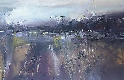 """ORIGINAL Oil PAINTING """"Abstract Landscape 89""""  by Karen Rice"""