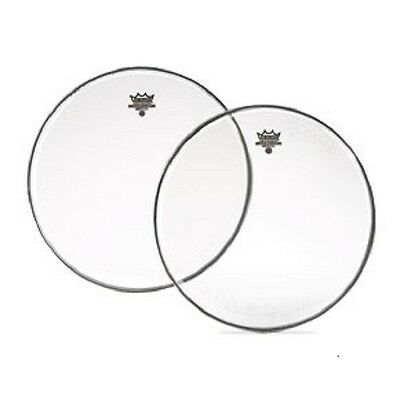Remo Emperor Clear Drum Head Skin. Various Sizes Available & Bass Drum Heads