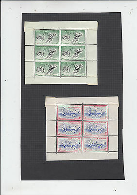 Two very nice New Zealand 1957 Health Minisheets