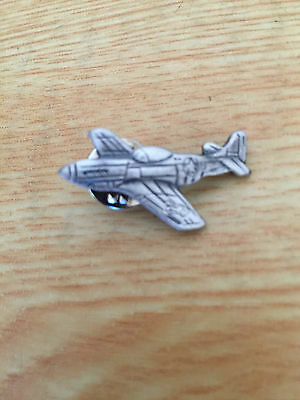 P-51 Fighter Plane Lapel Pin Pewter