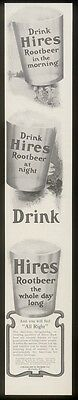 1903 Hires Root Beer 3 glasses art vintage print ad