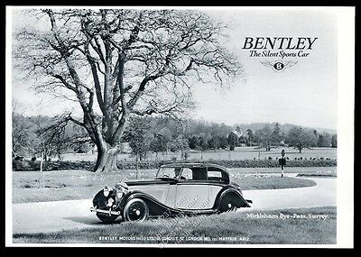 1940 Bentley coupe car Mickleham Surrey England photo vintage UK print ad