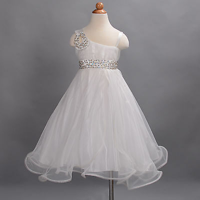 New Girls Ivory Flower Girl Bridesmaid Pageant Wedding Party Dress 2-3 Years