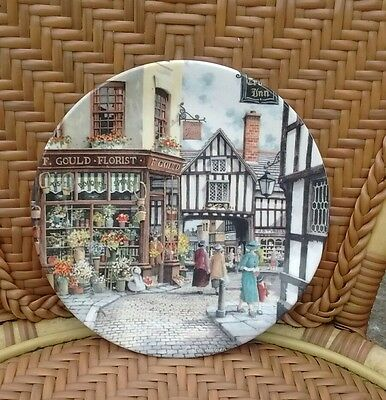 Royal Doulton Collectors Plate The Flower Shop From Window Shopping Series 1989