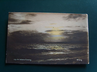 Scotland:  An Autumn Evening, Orkney - Printed - Posted 1907
