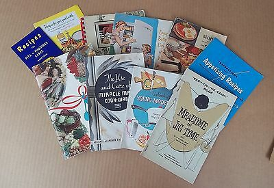 Vintage Recipe Booklets, Instructional Manuals, All Types, Group Of Ten