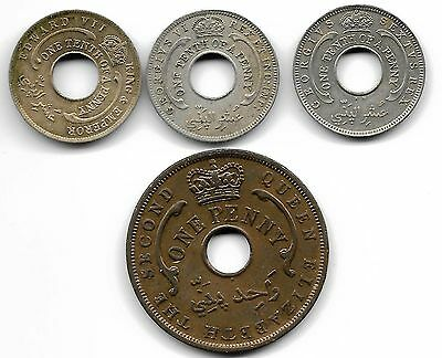 British West Africa Lot Of 4 Coins