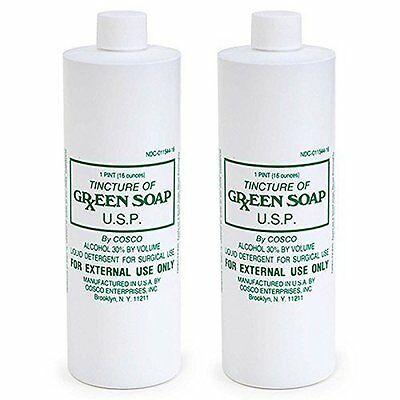 Tincture Of Green Soap - Liquid Detergent For Surgical Use 2 Bottles (16 oz)