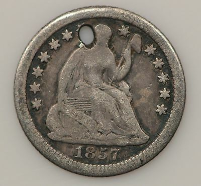 1857-P Seated Liberty Silver Half Dime *G25