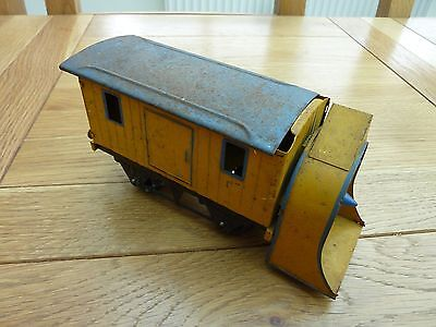 Hornby Meccano O Gauge Snow Plough Wagon Original Yellow
