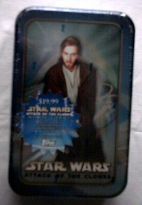 Star Wars AOTC Obi Wan Tin and Cards,NEW,UNOPENED