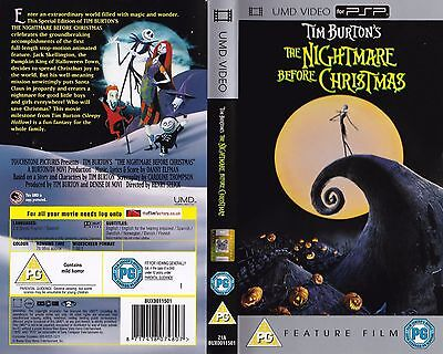 The Nightmare before Christmas UMD Playsation Portable PSP Great Britain