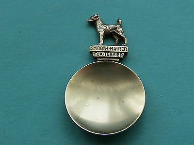 Vintage Brass Caddy Spoon   Smooth Haired Fox Terrier