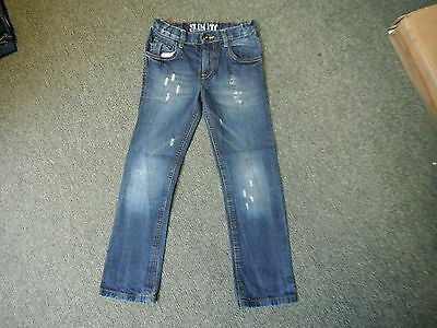 "Cherokee Slim Fit Jeans Waist 26"" Leg 23"" Faded Dark Blue Boys 8/9 Yrs Jeans"
