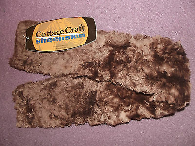 "New 28"" Small Brown Cottage Craft Sheepskin 100 % Australian Wool Girth Sleeve"