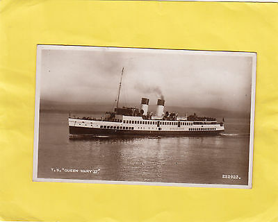 T  S   ''  QUEEN  MARY  II    ''   -   PADDLE STEAMERS  Scotland  ( o21 )