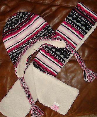 Warm Fleece lined hat and scarf...Age 4-14