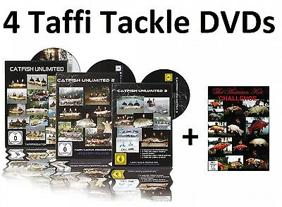 Taffi Tackle Catfish Unlimited 1+2+3 + Austrian Koi Challenge DVDs