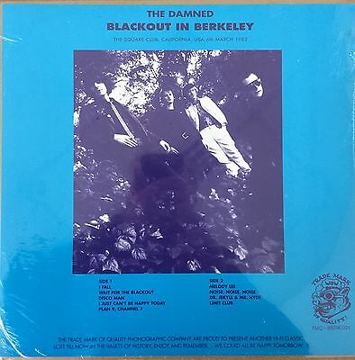 The Damned - Blackout In Berkeley VINYL LP New Sealed