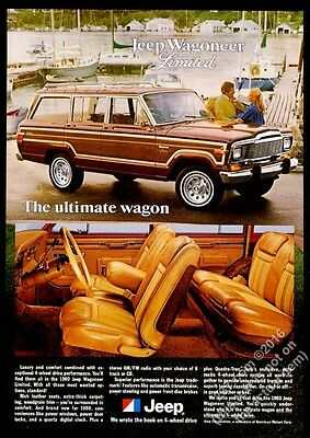 1980 Jeep Wagoneer Limited 2 photo The Ultimate Wagon vintage print ad