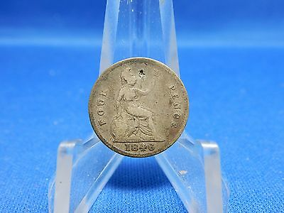 1846 Great Britain 4 Pence Silver Coin KM# 731.1