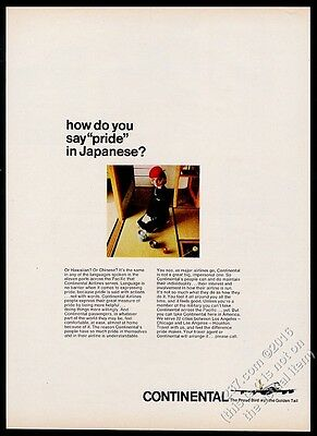 1966 Continental Airlines stewardess photo vintage print ad