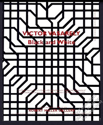 2004 Victor Vasarely Black and White art NYC gallery show vintage print ad