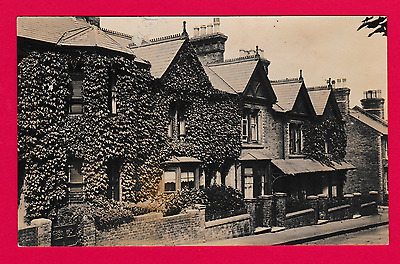 Unposted Postcard, Nice row of Terraced Houses, Unknown location.