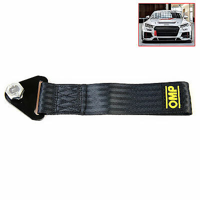 Sport Black High Strength Racing Tow Strap Set for Front Rear Bumper Towing Hook