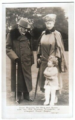 The King & Queen with the Little Princess Elizabeth at Craigwell House, Bognor