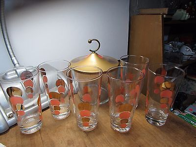 Cool Vintage 1950S Mid Century Modern Bar Set Glasses And Ice Bucket Eclipse
