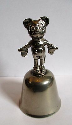 Vintage Disney Mickey Mouse Silver Plate Bell